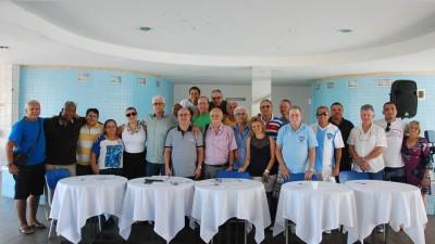 Parte da diretoria e sócios - Eleições Canto do Rio - Foto Sergio Bastos
