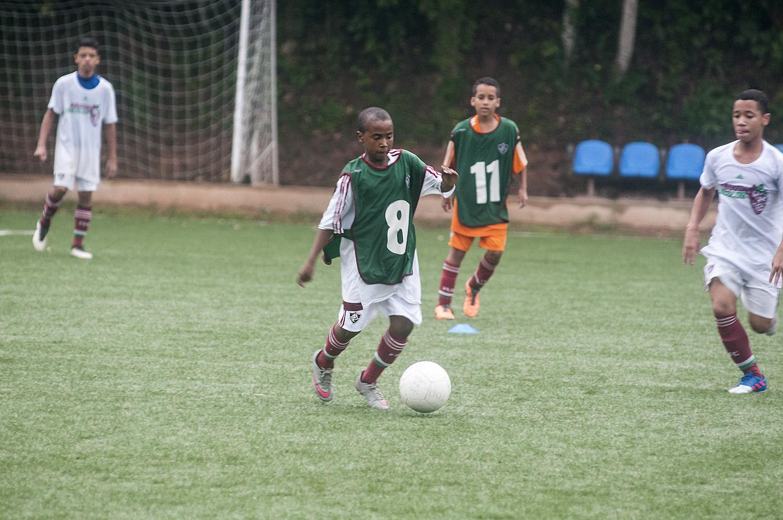 Alguns atletas do Canto do Rio já estão treinado no Fluminense FOTO DALTON VALÉRIO (1)